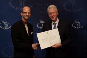 Cliff Schmidt and President Bill Clinton