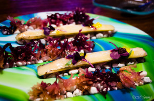 Tickets - Razor Clams with Saffron Pearls