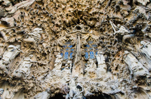Some of the detail of the Sagrada Familia's exterior