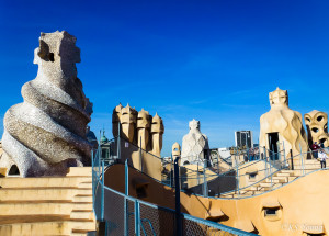 The rooftop of Casa Mila