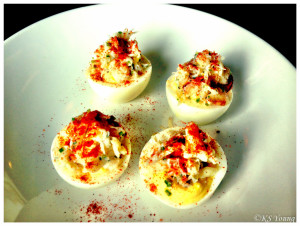 Madison Park Conservatory - Deviled Eggs with Dungeness Crab