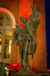 War memorial outside Canadian Pacific Railway Station