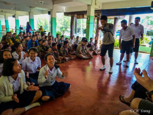 That one time we got invited to speak in front of an entire high school in Thailand and tried not to embarass ourselves (failing miserably in the process).