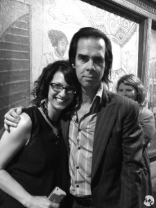 Another photo-op with Nick Cave after the first SF show