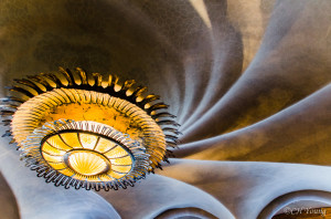 One of Casa Batlló's amazing ceilings