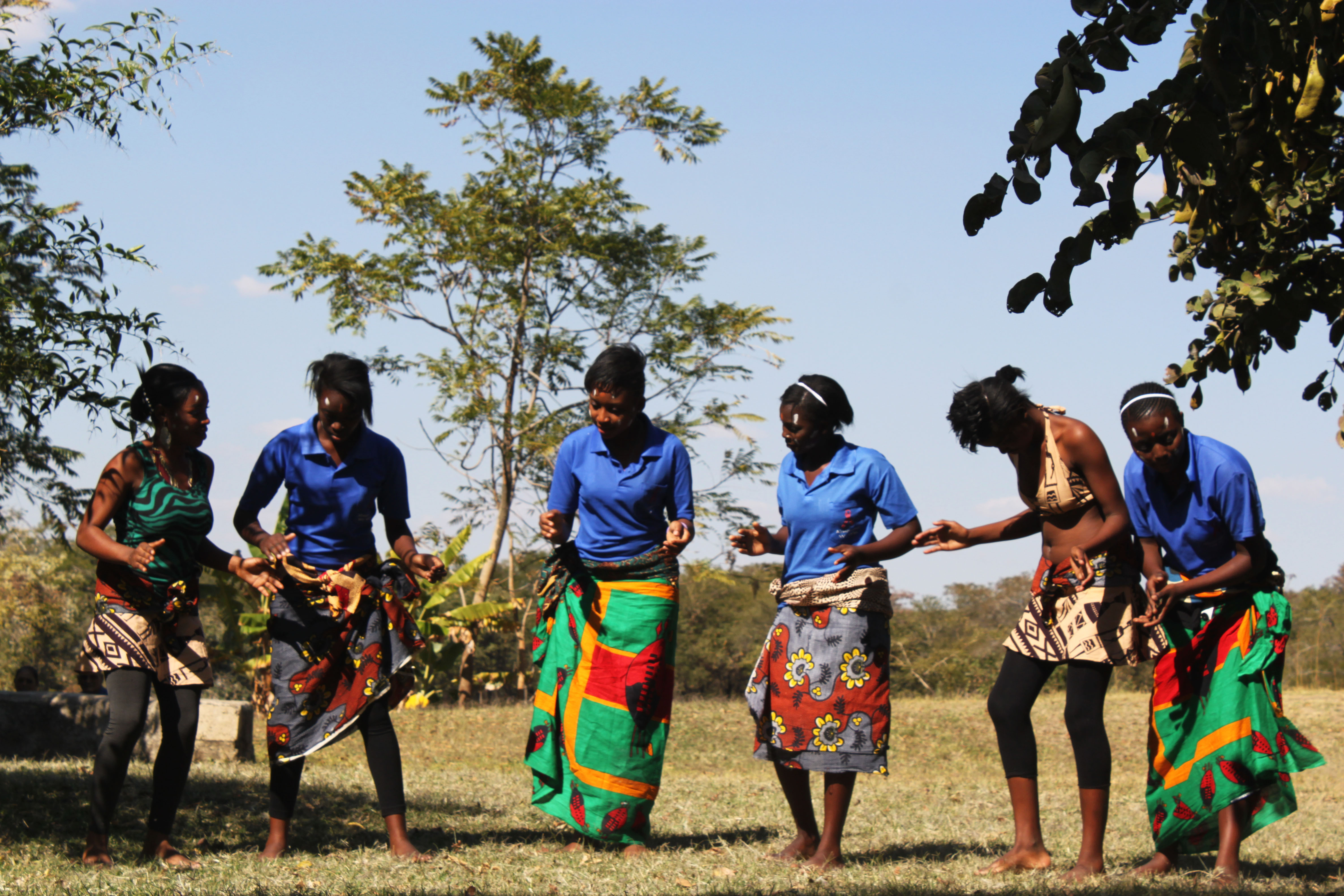 Girls Dancing from Munali Secondary School. (Photo courtesy Sam Zieve and SAAS-ZC.)