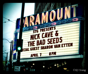Nick Cave & The Bad Seeds - Paramount Theatre, April 2, 2013