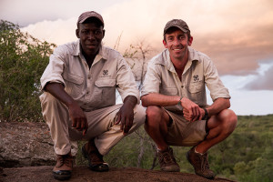 Solly Mhlongo and Adam Bannister. (Photo courtesy Londolozi Game Reserve.)