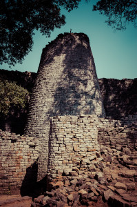 The Conical Tower at Great Zimbabwe Ruins