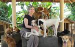 Ahangama, Sri Lanka at Animal SOS, a dog and cat shelter. (Photo courtesy Barb Hautanen.)