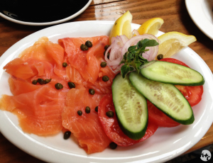 Scottish Smoked Salmon Plate at Joan's on Third