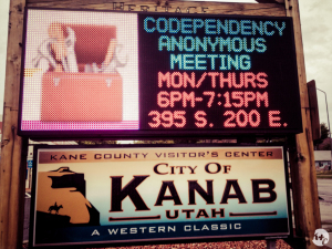 Co-Dependency Anonymous meeting. Please ask for permission before attending.