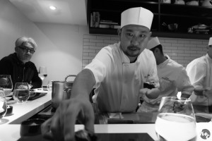 Chef Nakazawa serves us snow crab