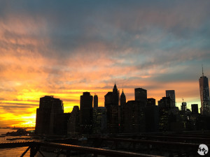 Gorgeous November sunset from the Brooklyn Bridge