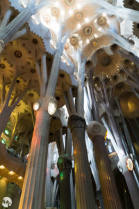 The nave of Sagrada Familia